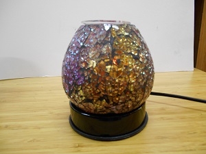 Touch Lamp, Oil Warmer, pink crackle glass, m-179FREE SHIPPING