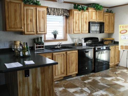 Open Kitchen with Hickory Cabinets