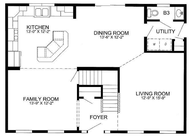 First floor features an open plan