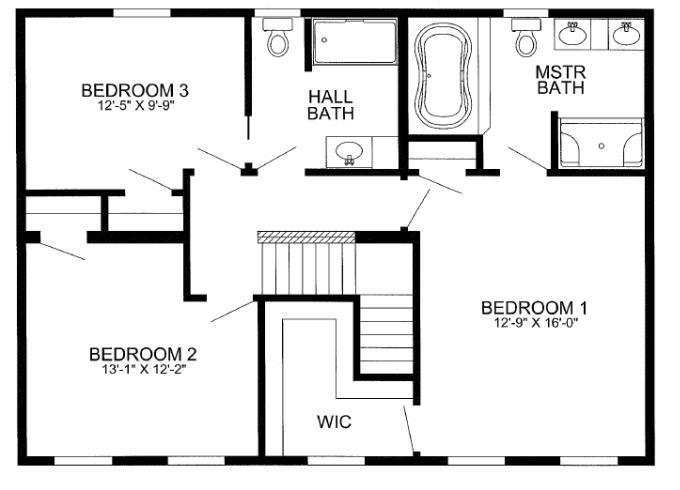 3 bedrooms, 2 baths on second floor