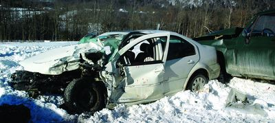 Drifting snow leads to two-car crash