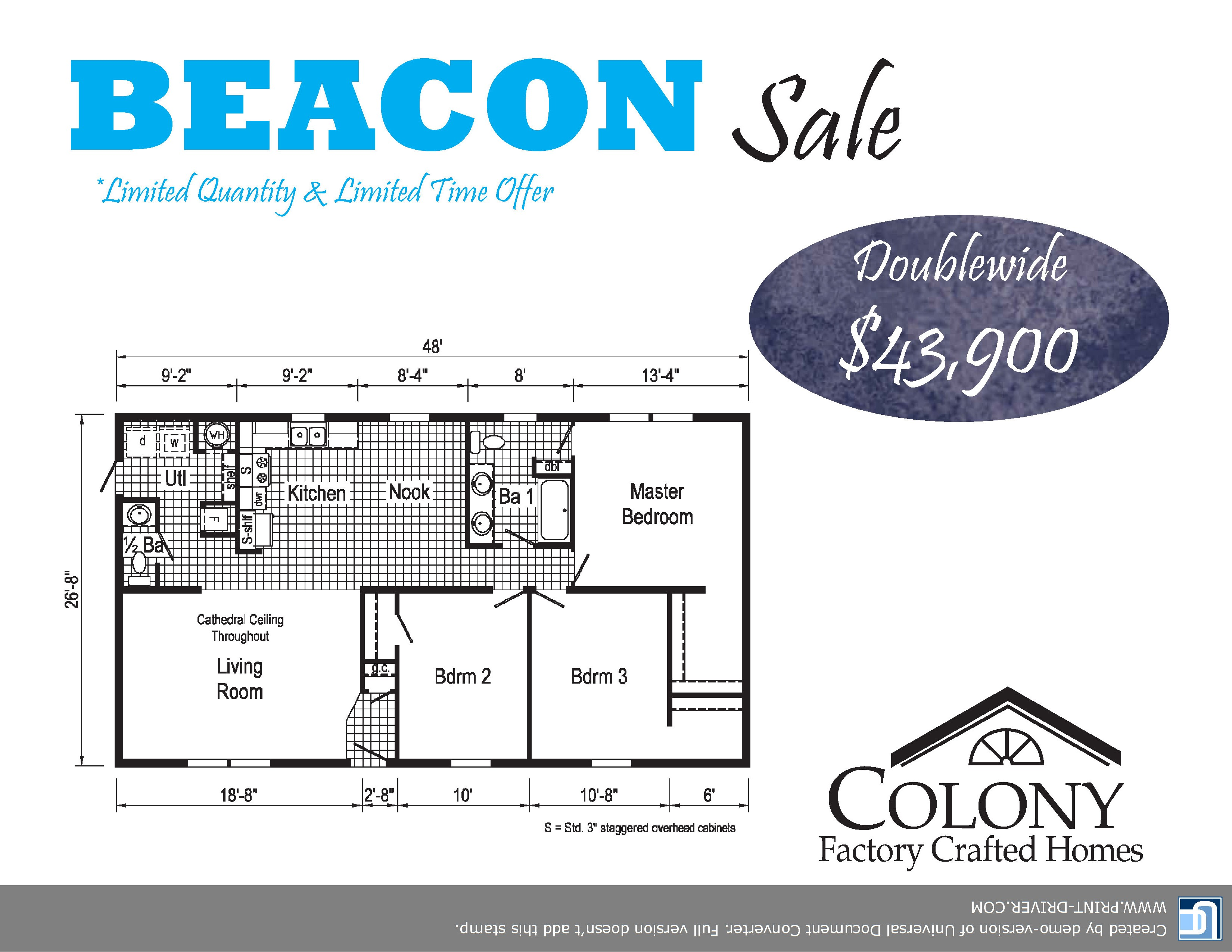 BUSTER BEACON SECTIONAL HOME