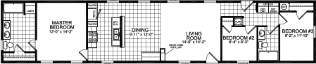 Split Bedroom Plan