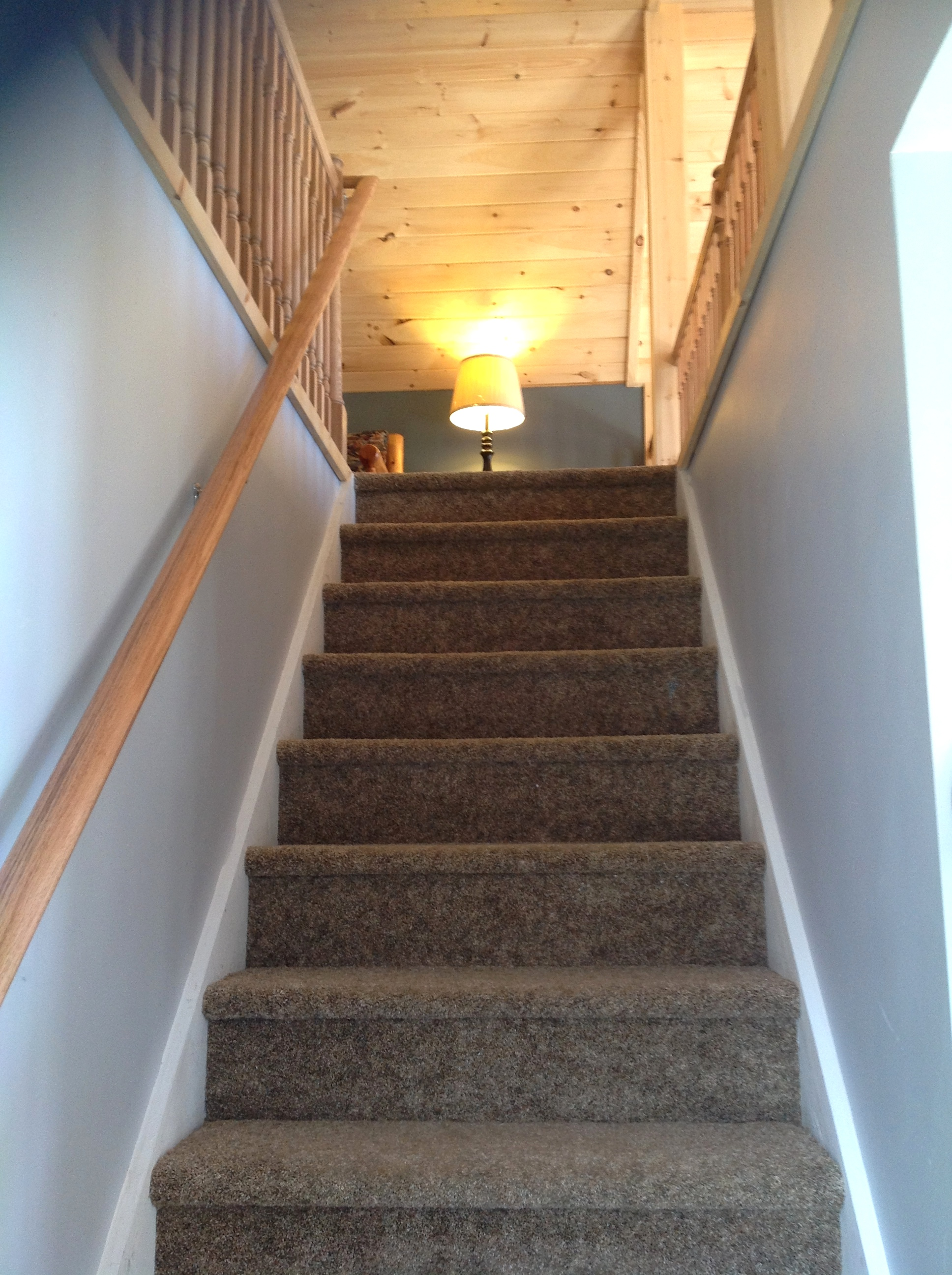 Stair way to the loft.