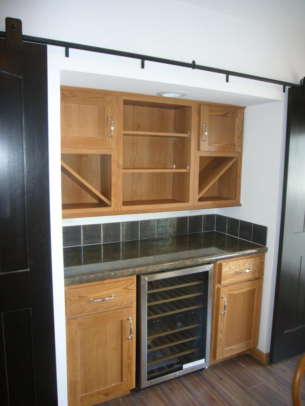 The Elite Beverage Center With Barn Style Doors