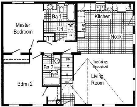 2 Bedroom Floor Plan as Displayed in Weedsport