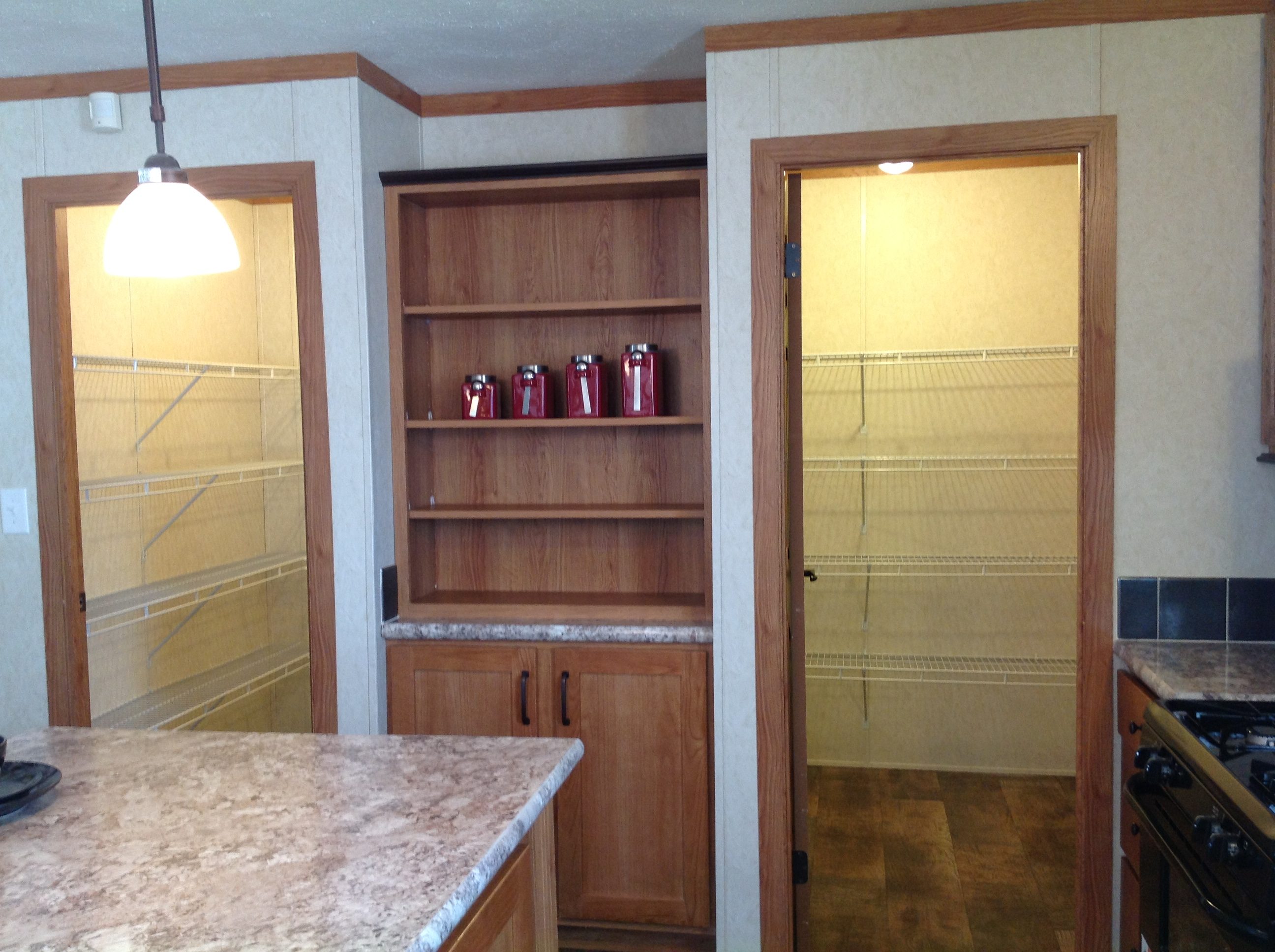 Just look at this walk-in, walk-through pantry