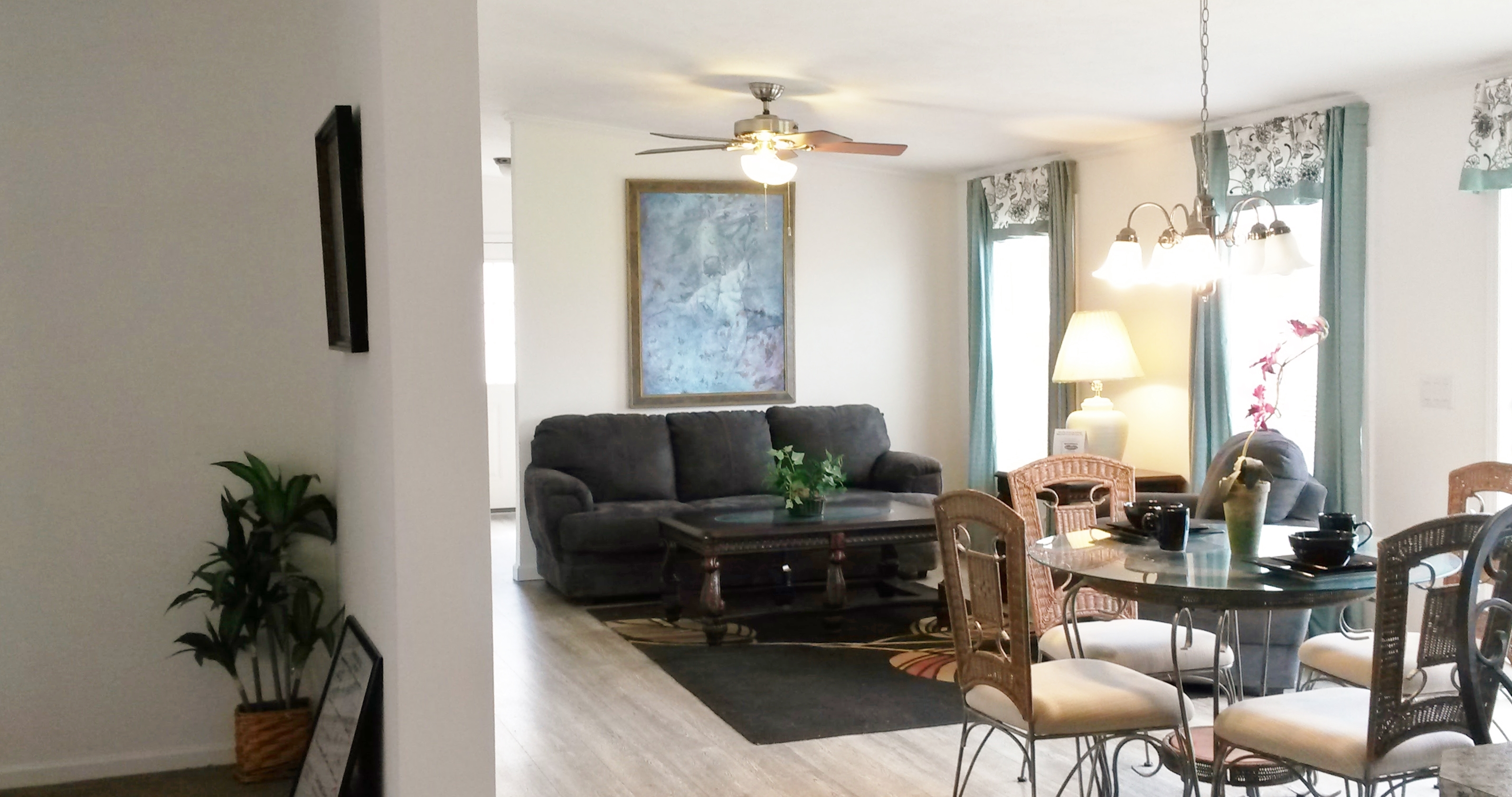 From living room into great room