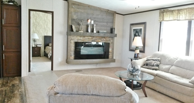 Your fireplace really makes this house