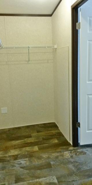 Plenty of room in the master closet