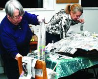 CV artists ready for Climate Change March; Schoharie Blue Streak