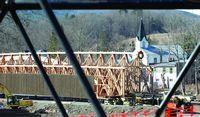 Blenheim Bridge taking shape
