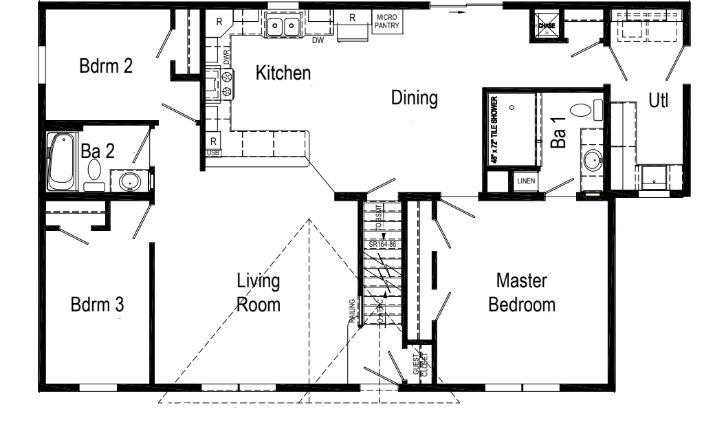 This Floorplan Is Shown With The Optional Utility Extension