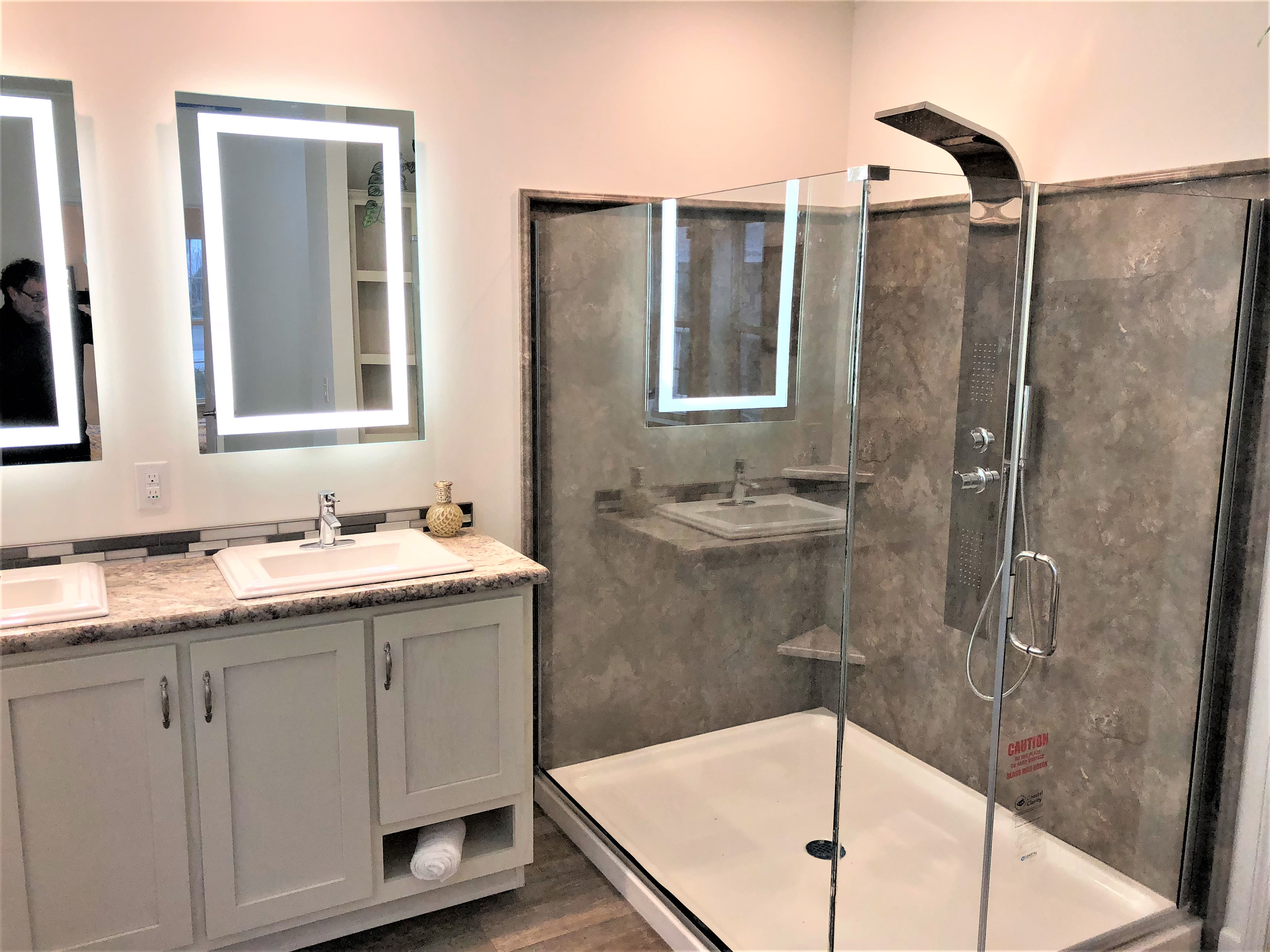 Shower in Master Bath as Displayed