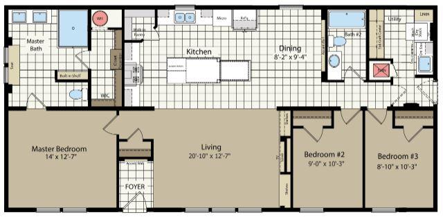 56' Length Floor Plan as Displayed