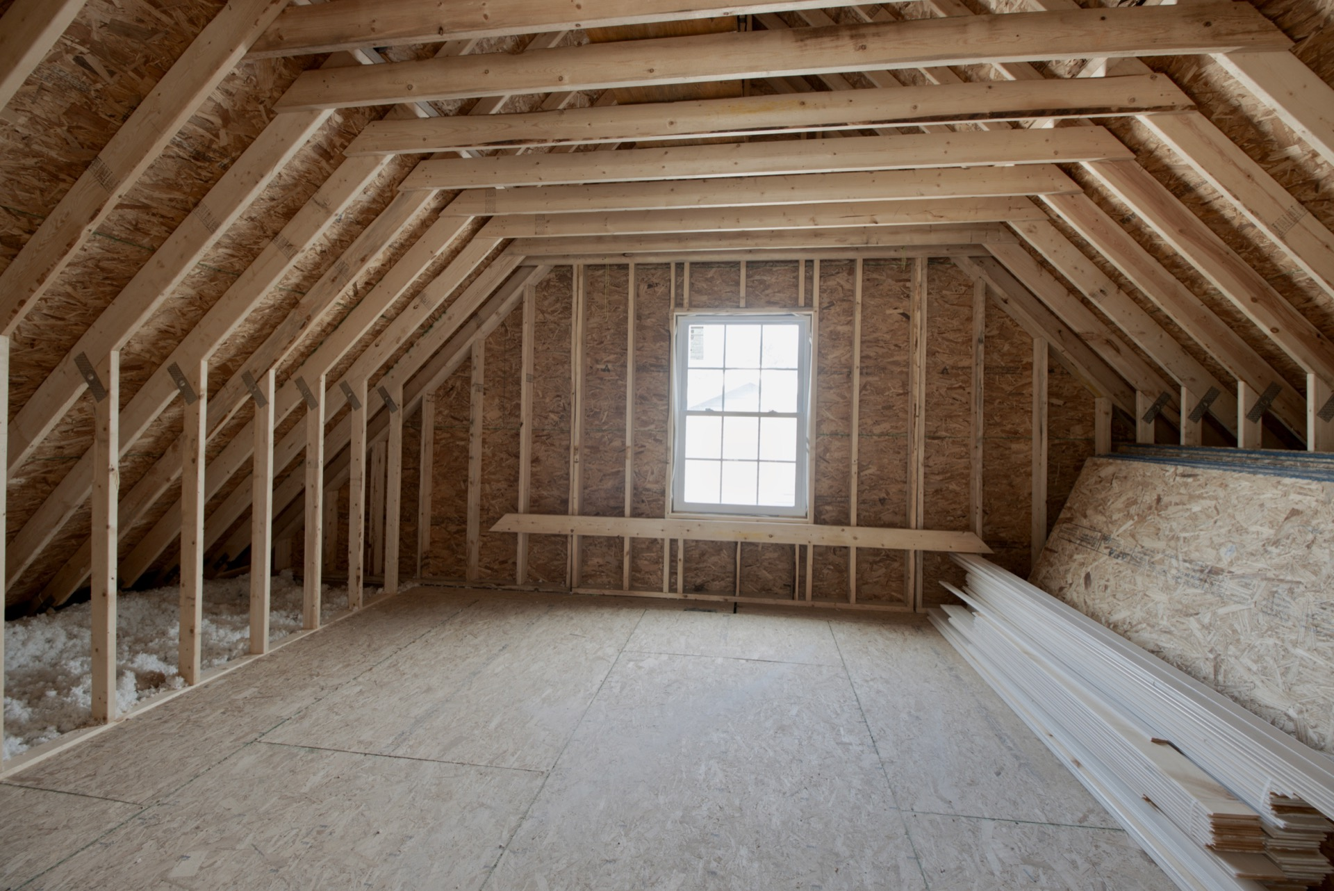 Unfinished Room in Loft