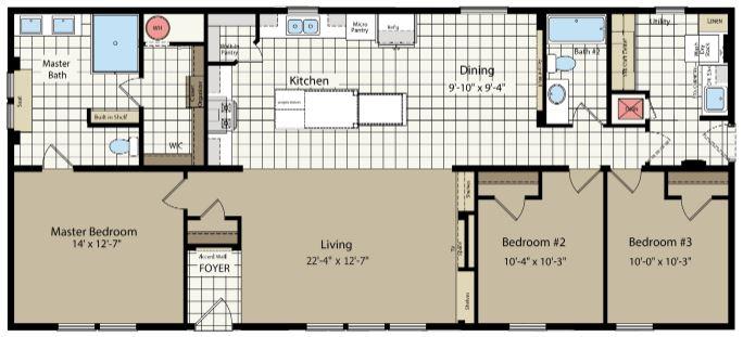 60' Length Floor Plan