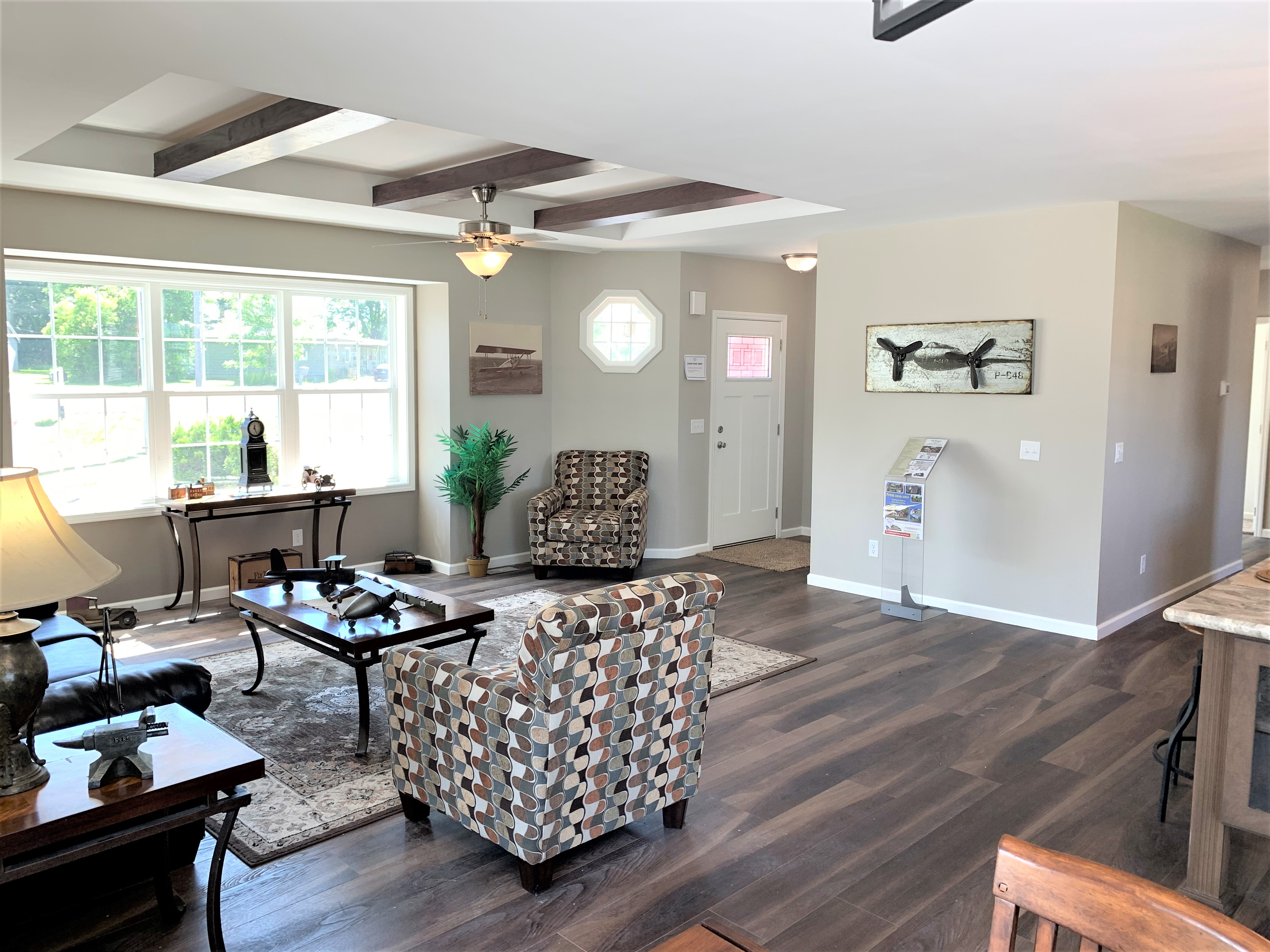 View Of Living Room And Foyer