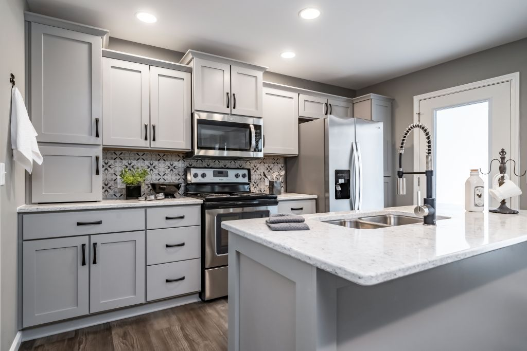 Kitchen Shown With Appliance Garage