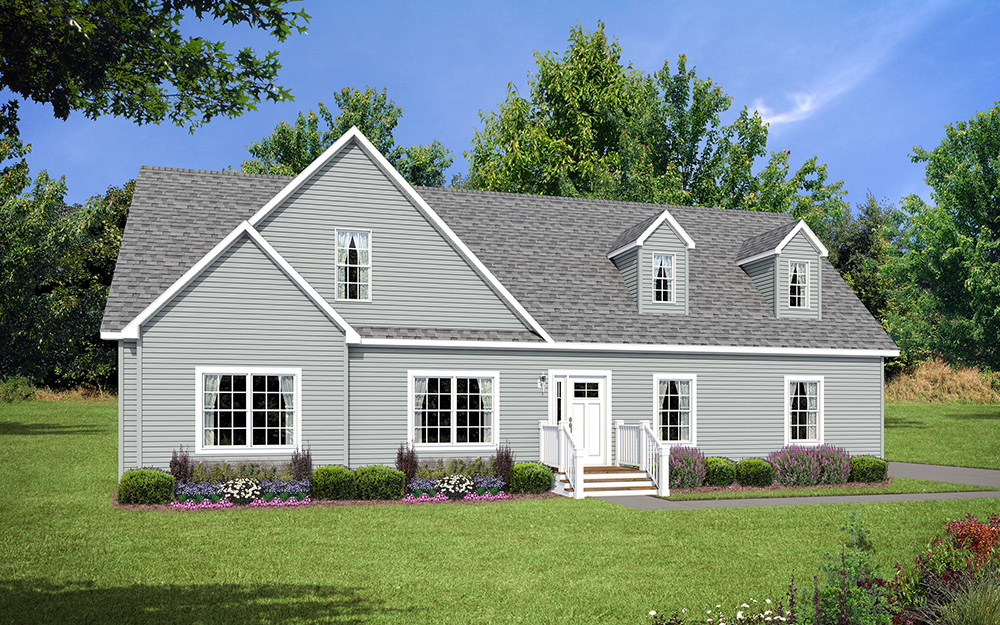 Optional Exterior Shown With 2 Doghouse Dormers