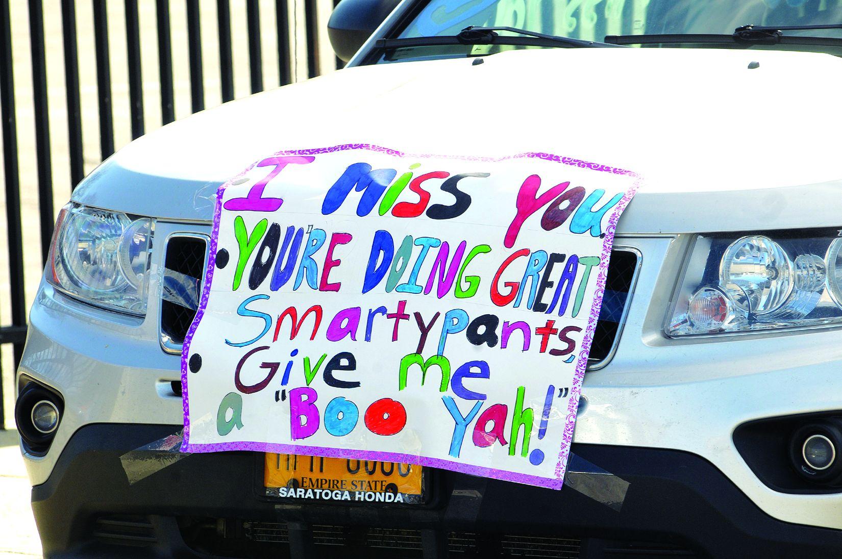 "SCS lifts spirits with ""car parade"""