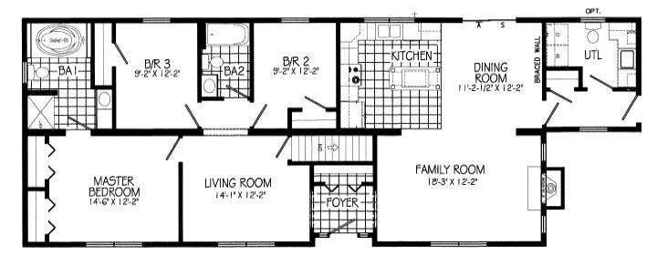 Base home excludes utility room