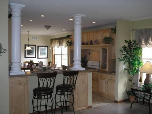 Columns at Kitchen