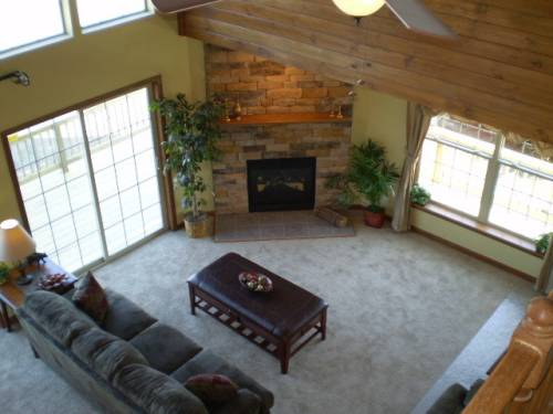 Living Room View from Loft