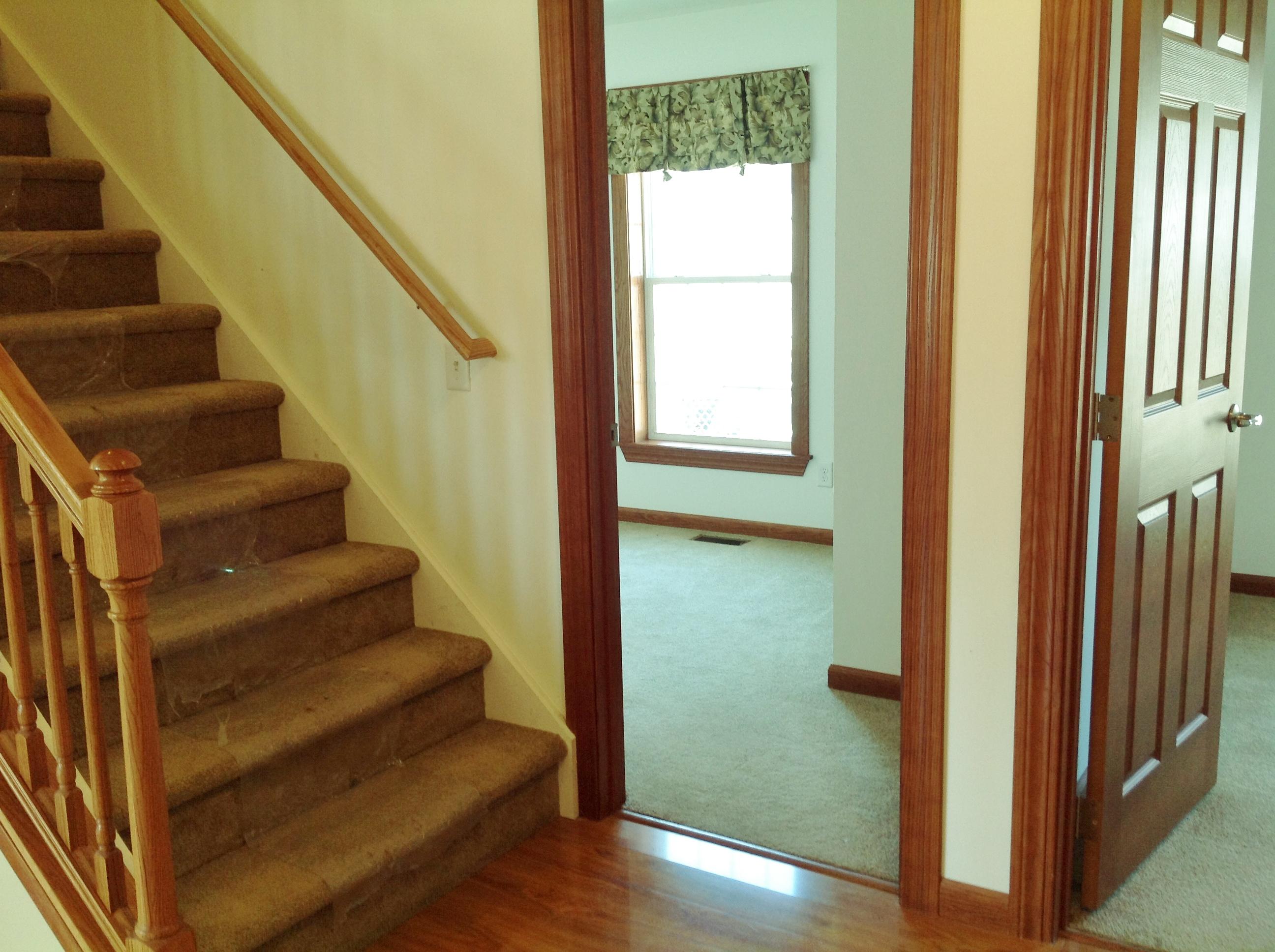 Split bedroom floor plan.  Bedroom 2 and 3.