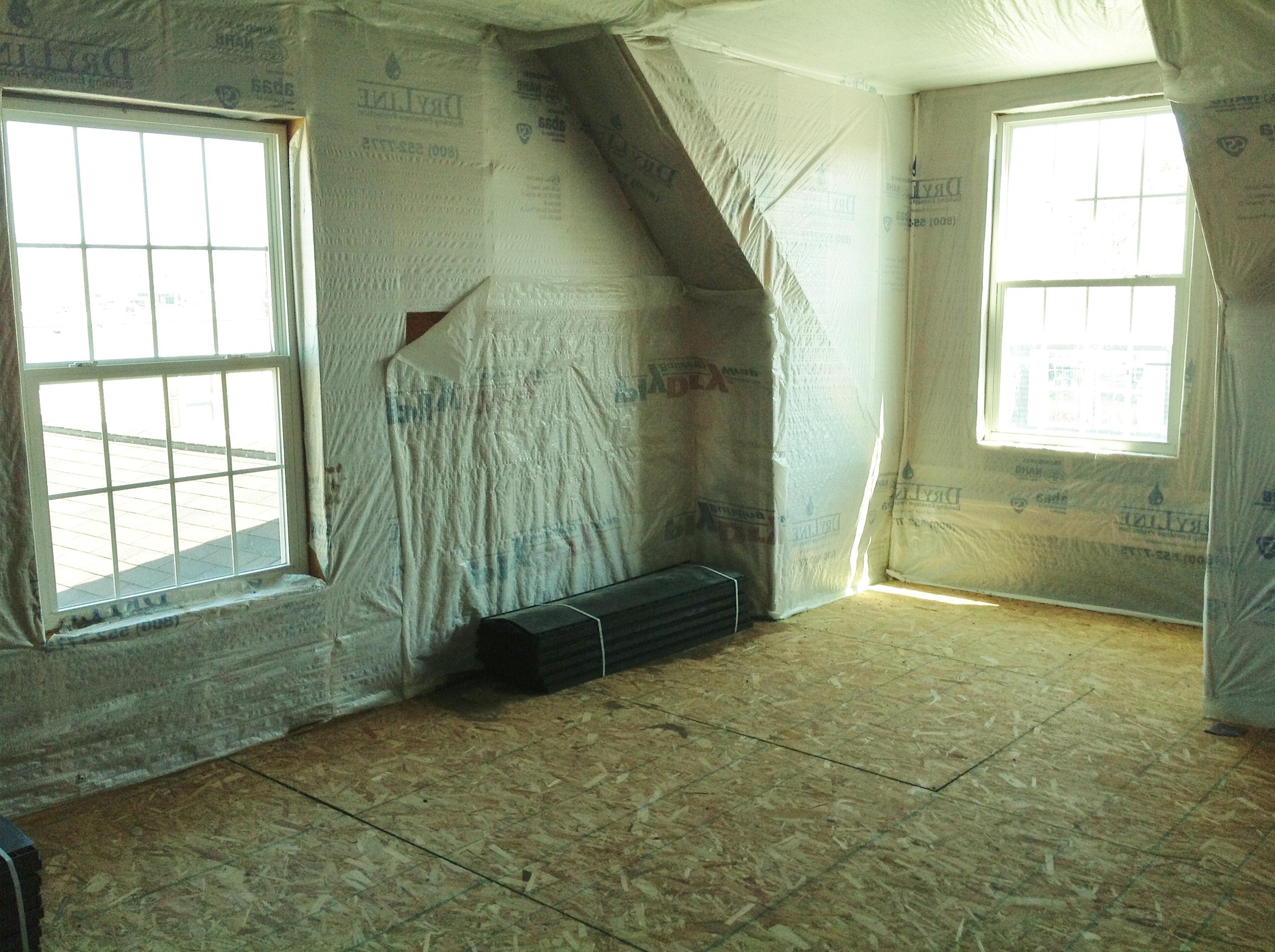 Plenty of room in this attic space.