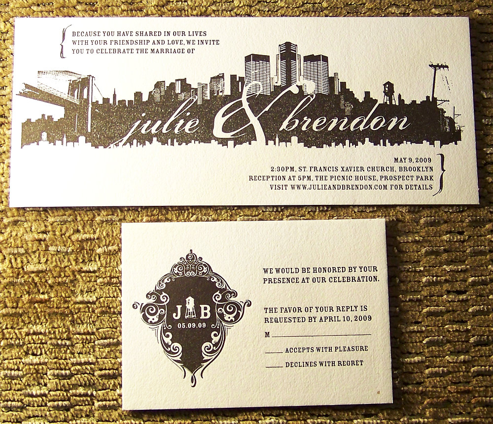 Wedding Invitation & RSVP Card Set