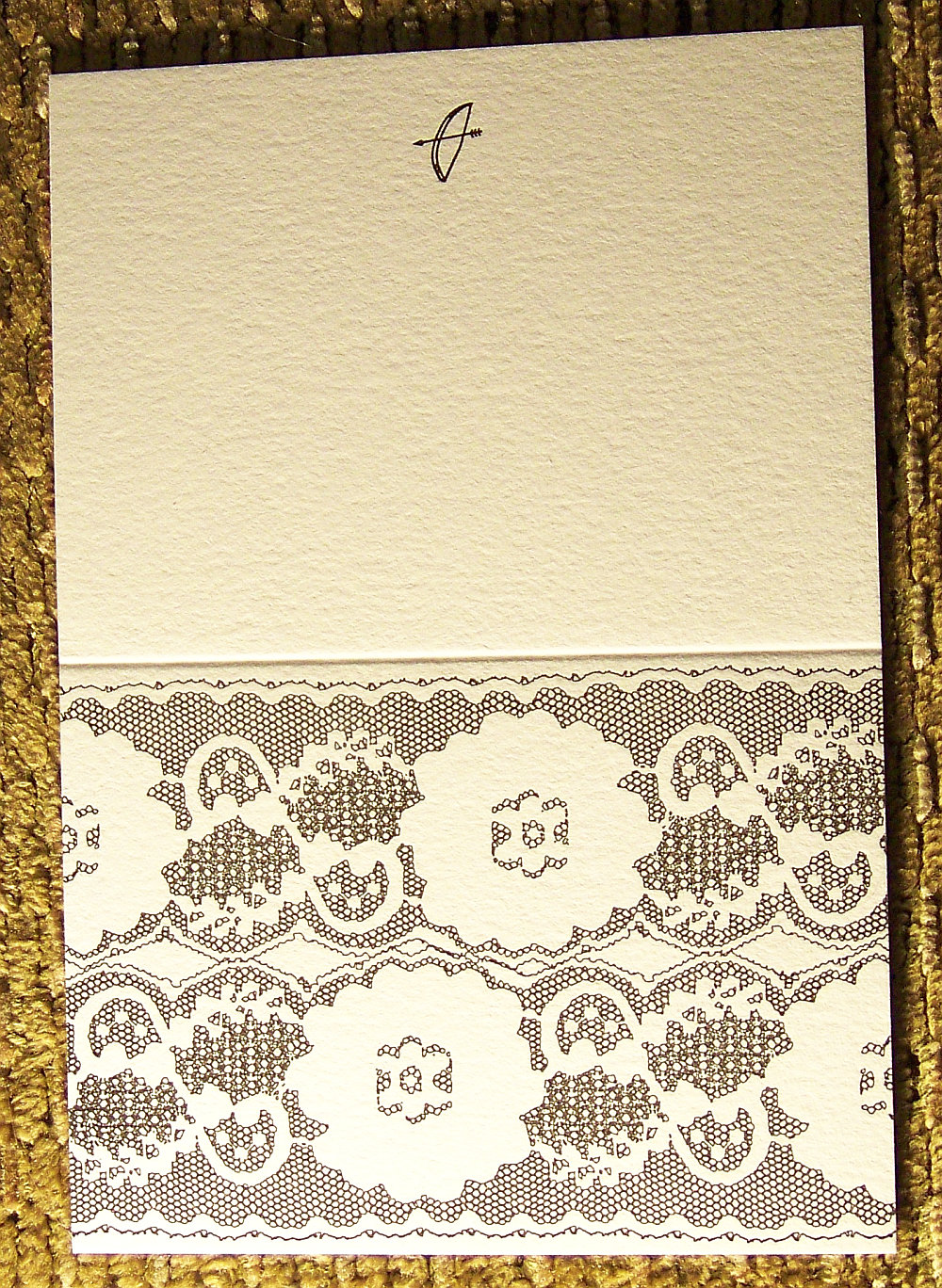 Lace Card - Black (A2)