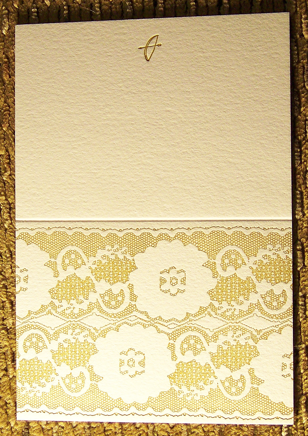 Lace Card - Gold (A2)