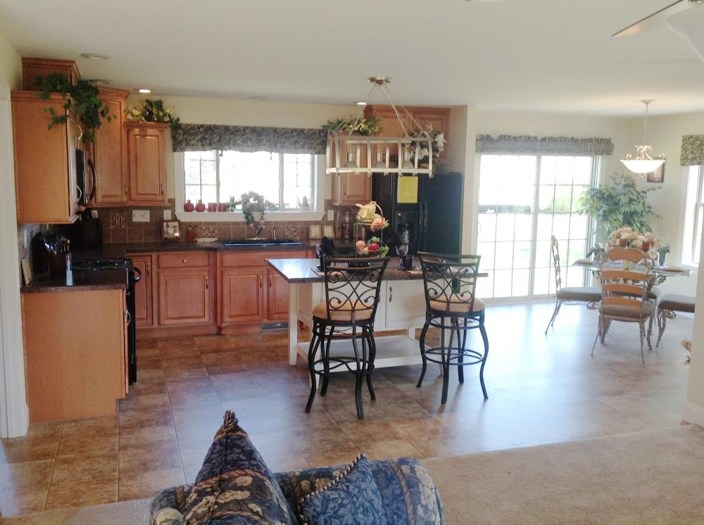 A view of the Kitchen and nook.