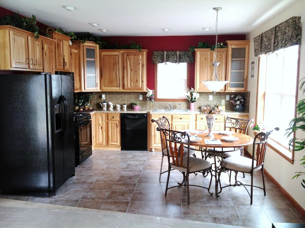 Optional Hickory Cabinets
