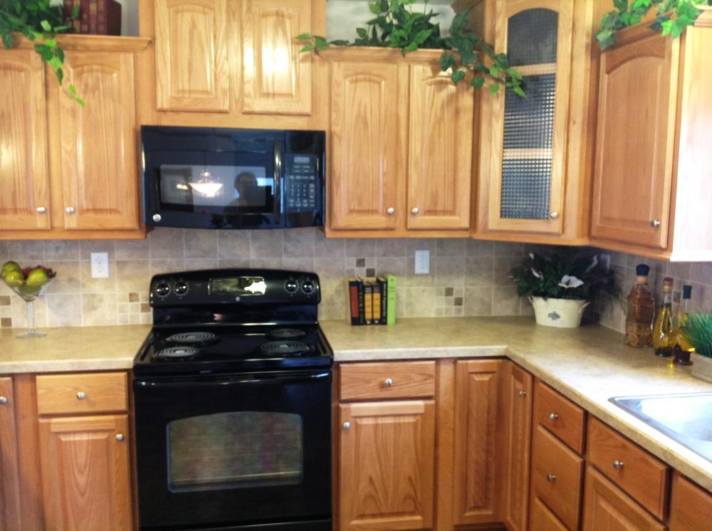 Raised panel oak cabinets