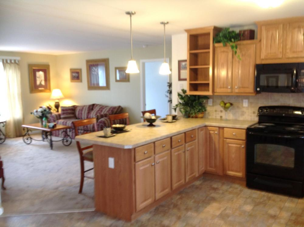 Spacious open kitchen and living area