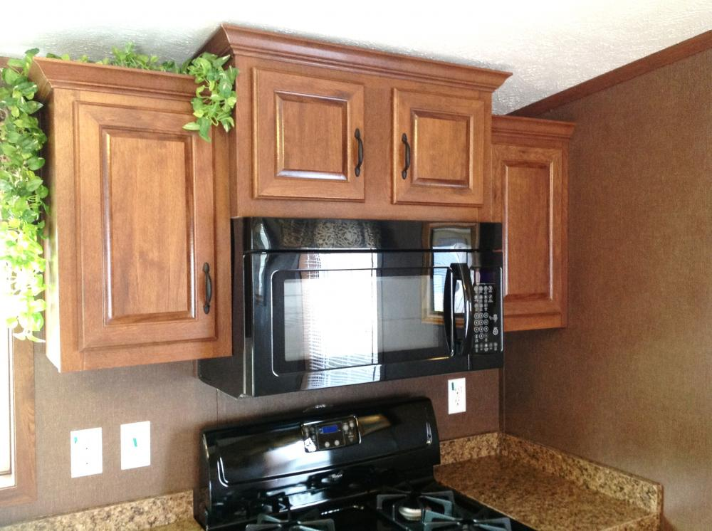 Standard Raised Panel Cabinets and Optional Microwave