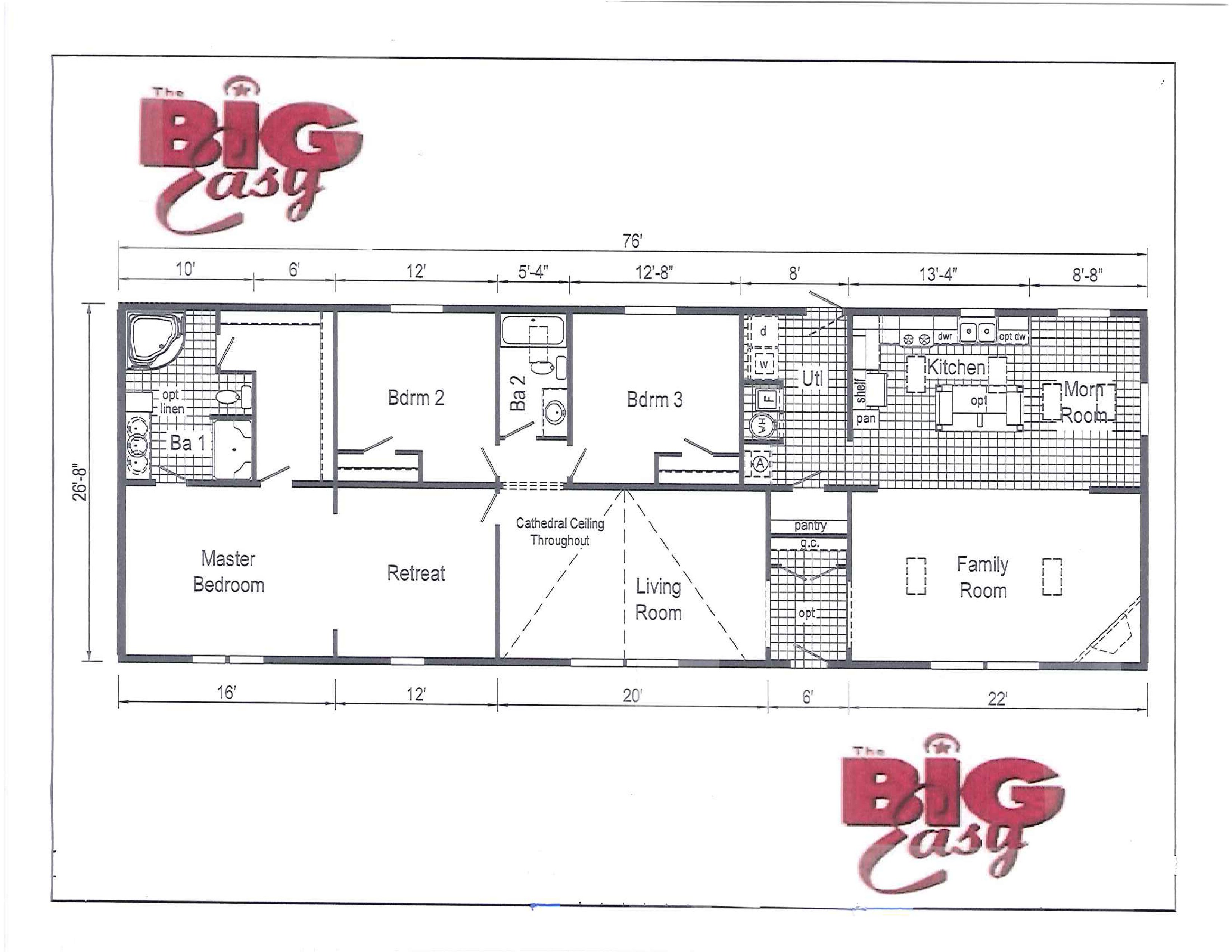 The Big Easy (CHECK OUT OUR CLEARANCE PRICING FOR DISPLAY HOME!)
