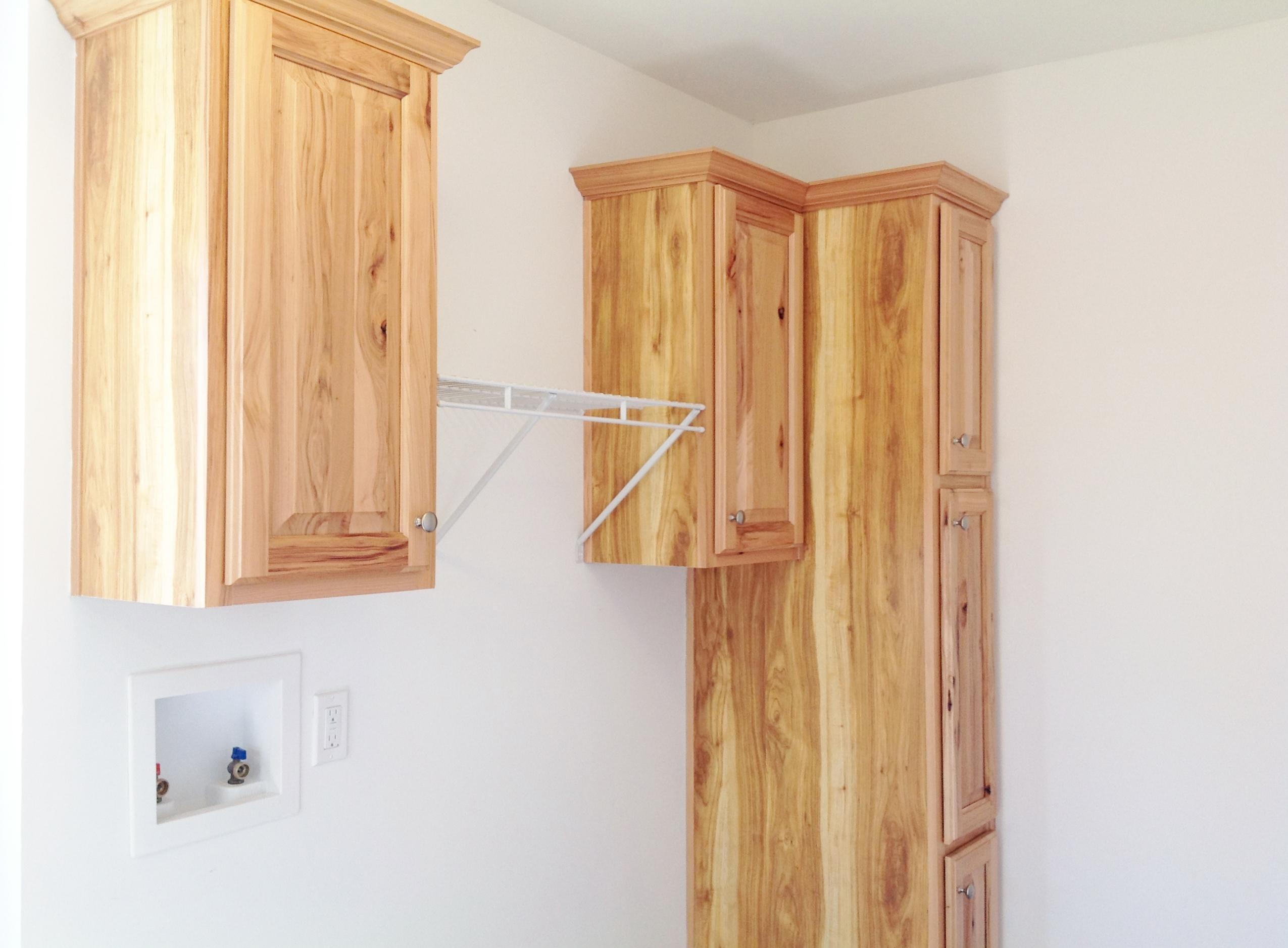 Overhead Storage at Washer/Dryer
