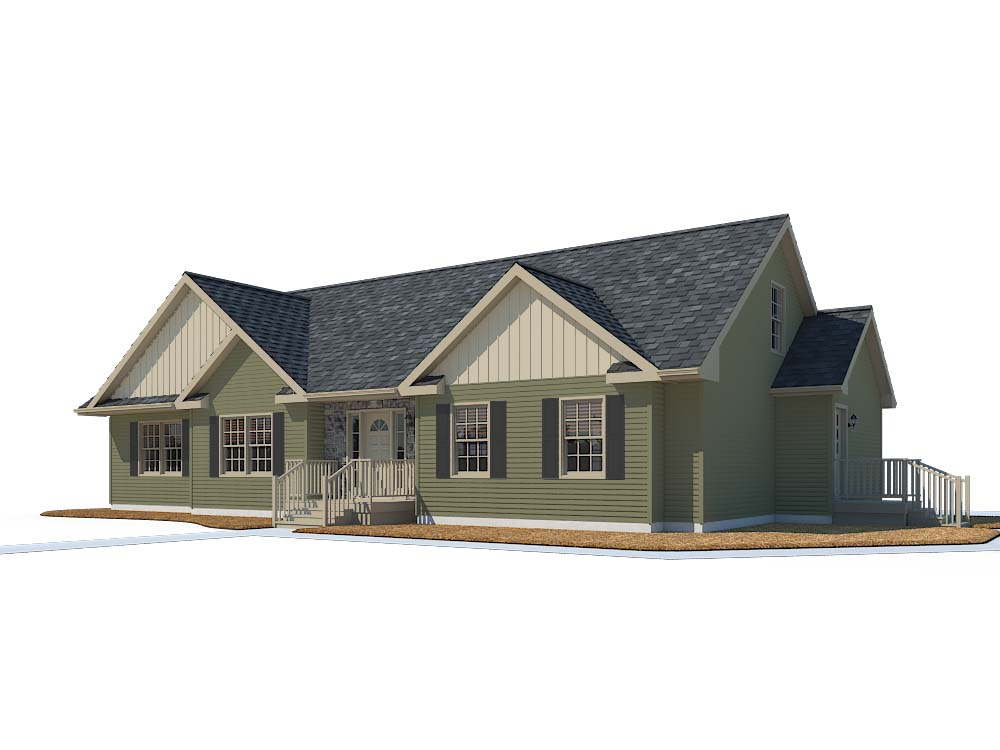 Rendering shows a 9/12 roof pitch.