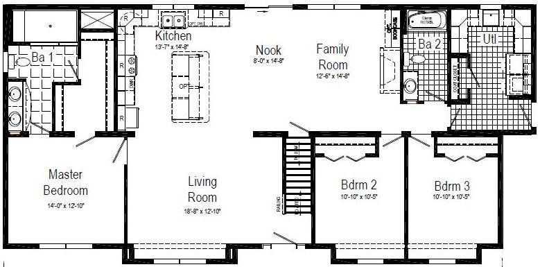 The floor plan as displayed.