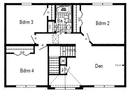 Second floor as displayed