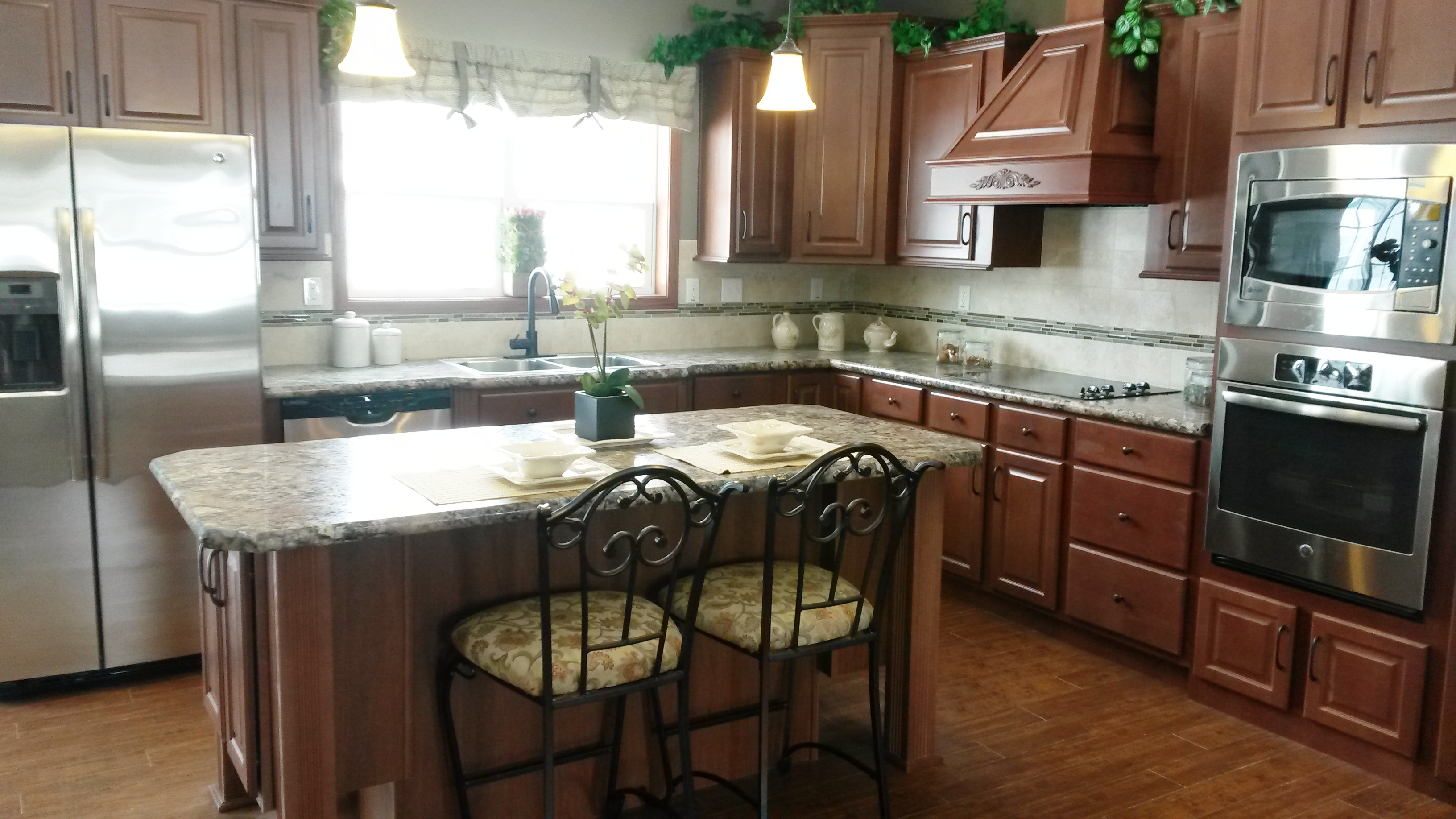 The kitchen, off the family room.