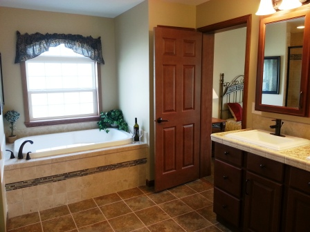 Plenty of space in this master bath.