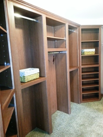 Closet organizers.