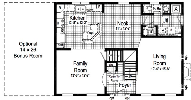 Standard plan (first floor).  As you can see, we made alot of changes.