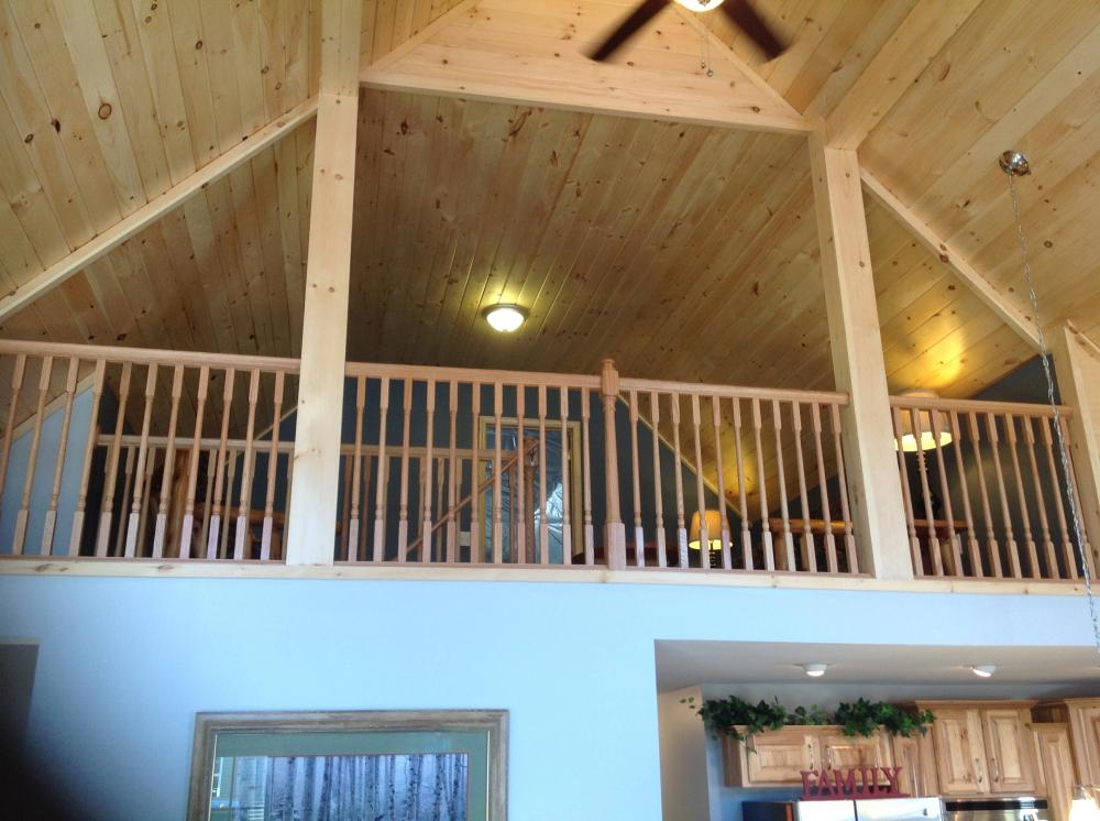Spectacular view of the vaulted loft.