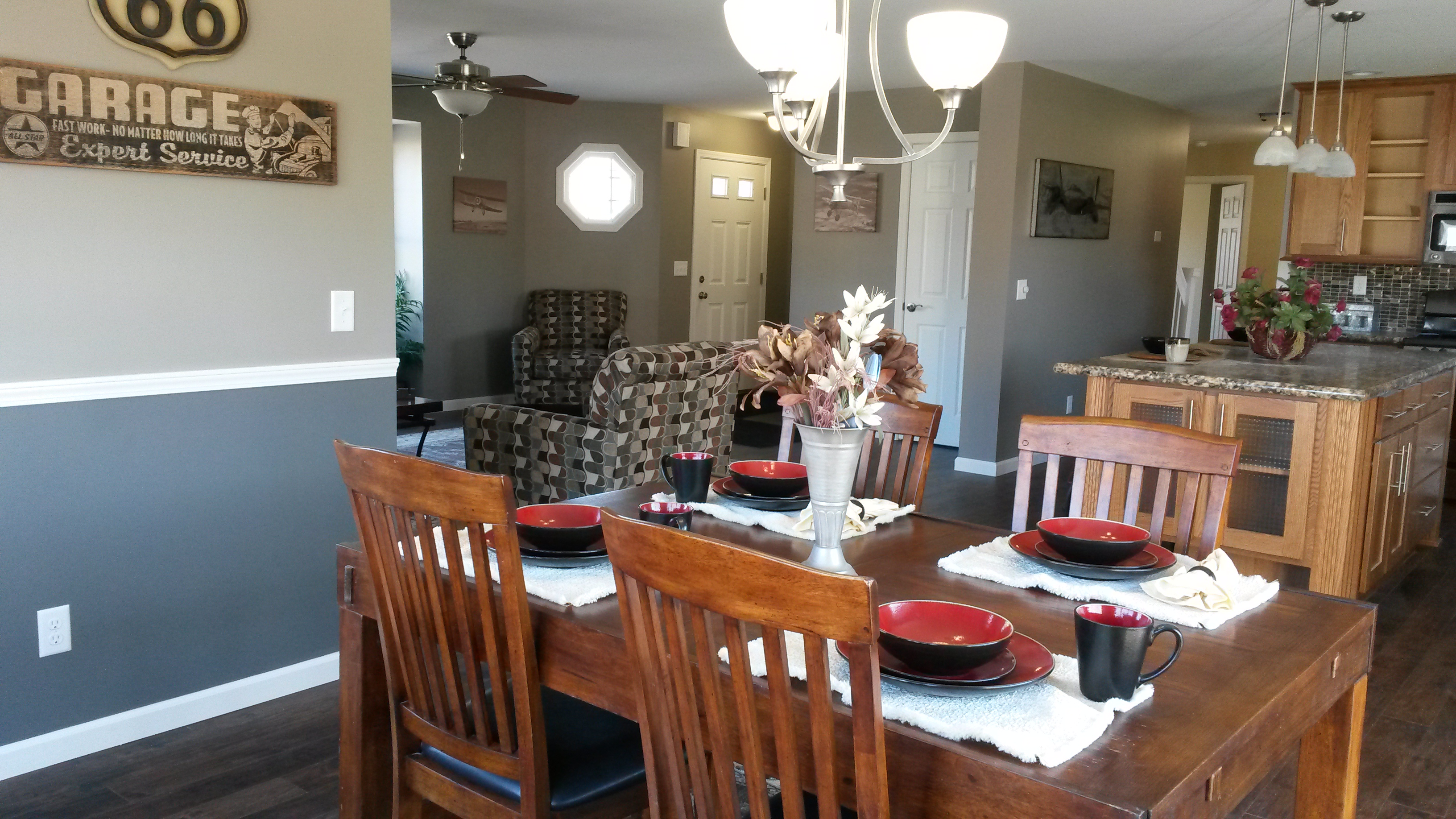 Dining are, Kitchen and Living Room