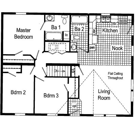 Floor plan as Displayed in Dryden